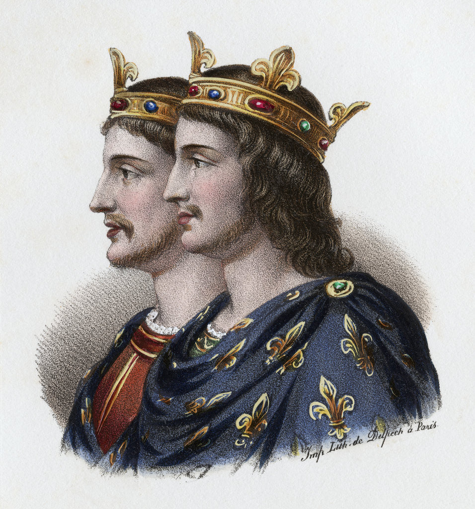 Detail of Louis and Carloman by Corbis