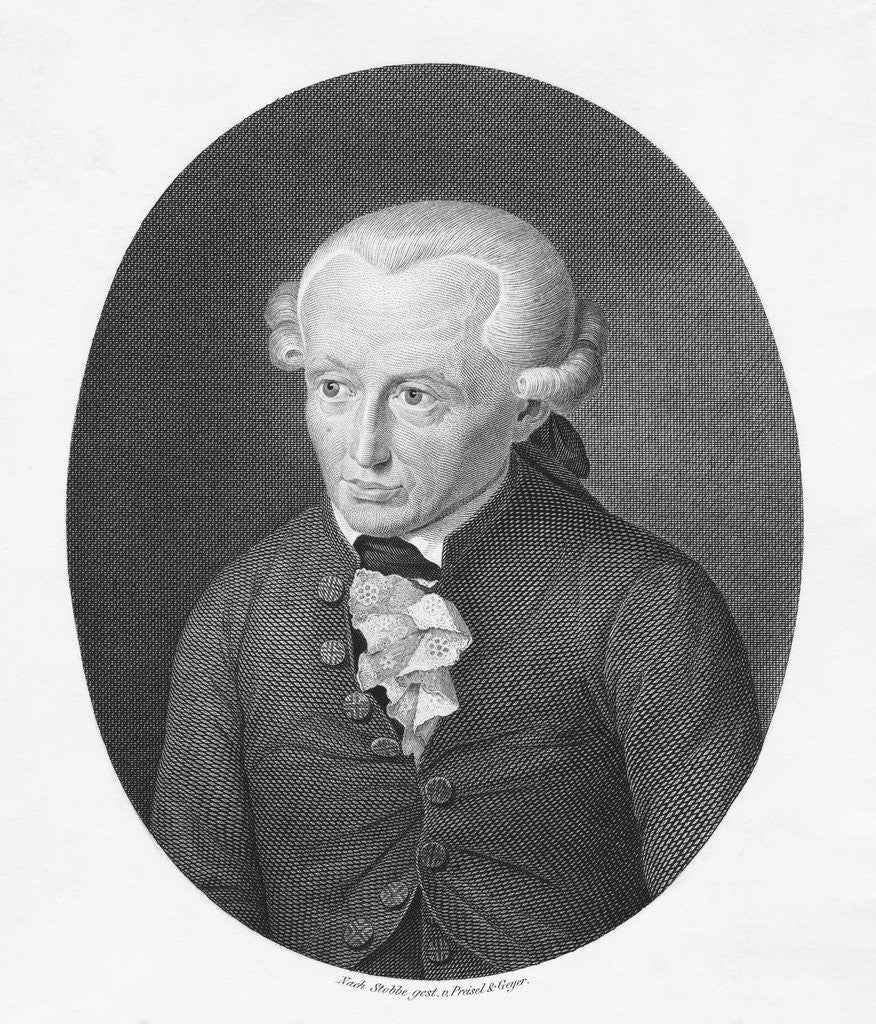 Detail of Immanuel Kant Engraving by Corbis