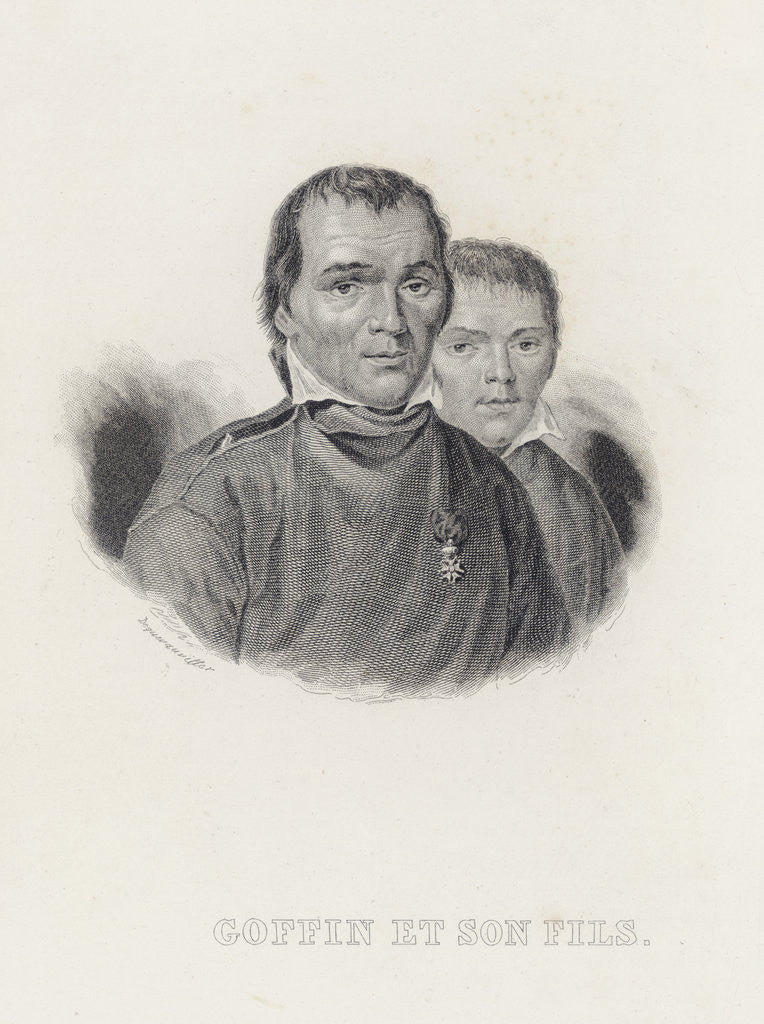 Detail of Goffin and his Son by Francois Dequevauviller