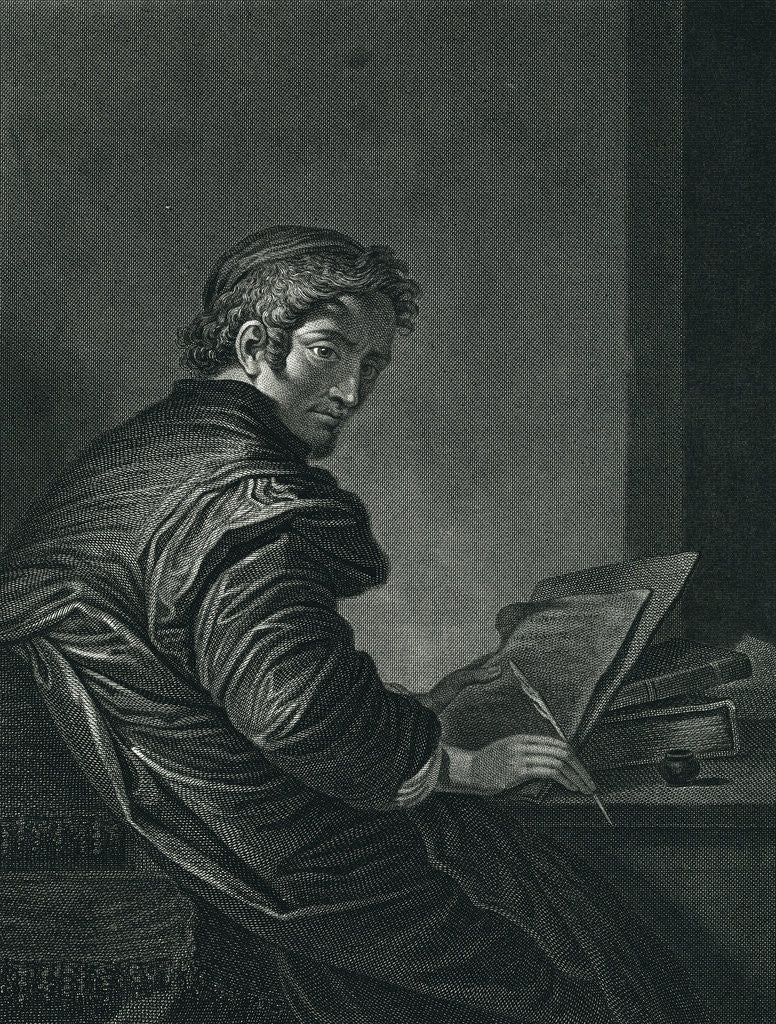 Detail of Salvator Rosa Engraving by John Neagle