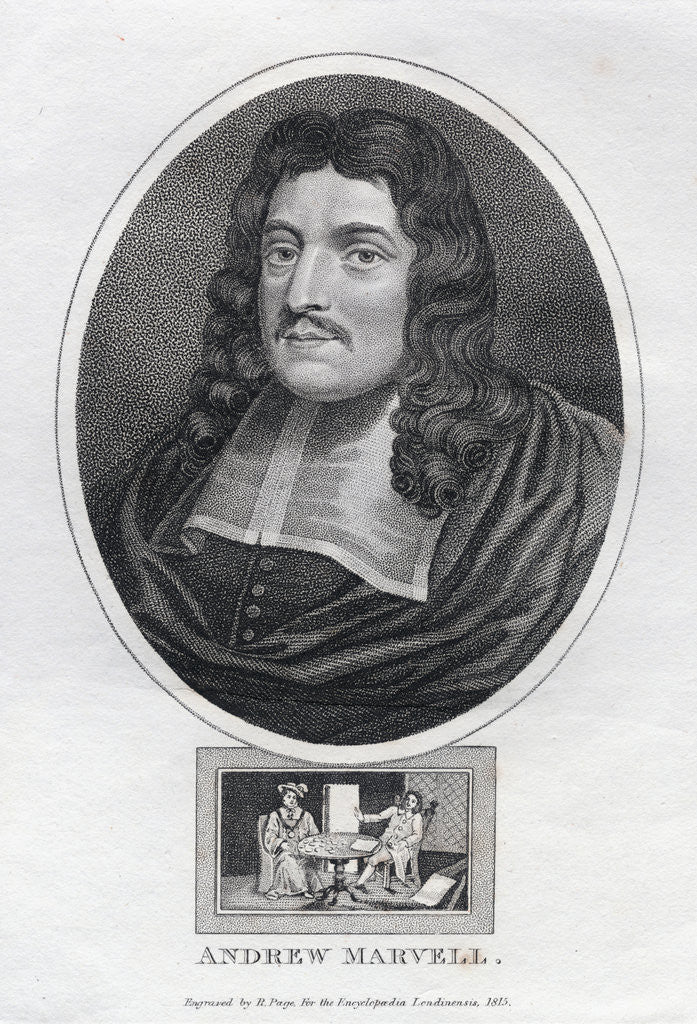 Detail of Andrew Marvell by R. Pape