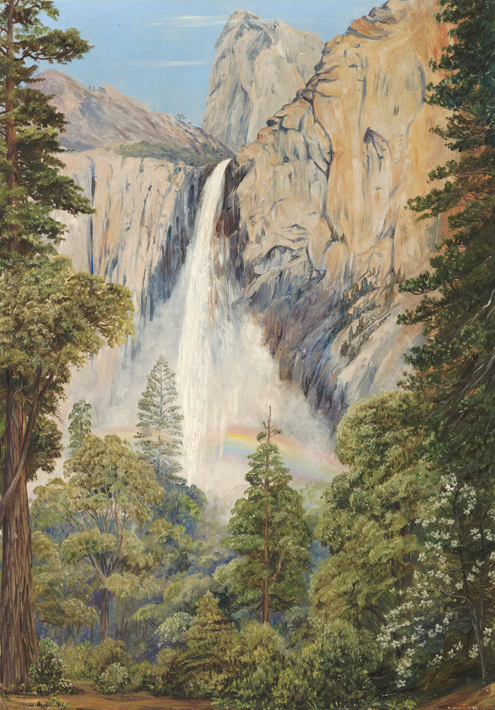 Detail of 196. Rainbow over the Bridal Veil Fall, Yosemite, California by Marianne North
