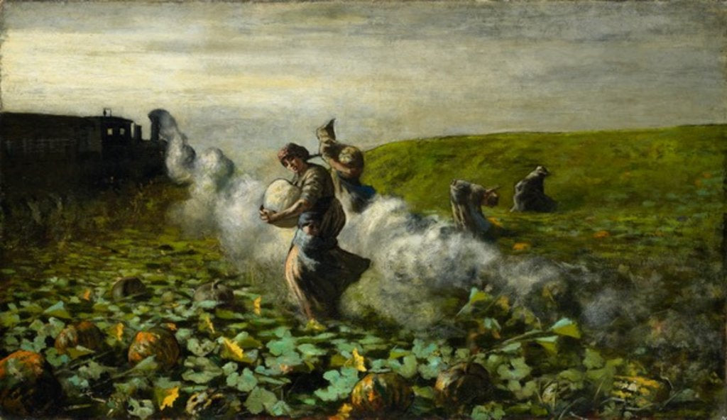 Detail of The Pumpkin Harvest, 1897 by Giovanni Segantini
