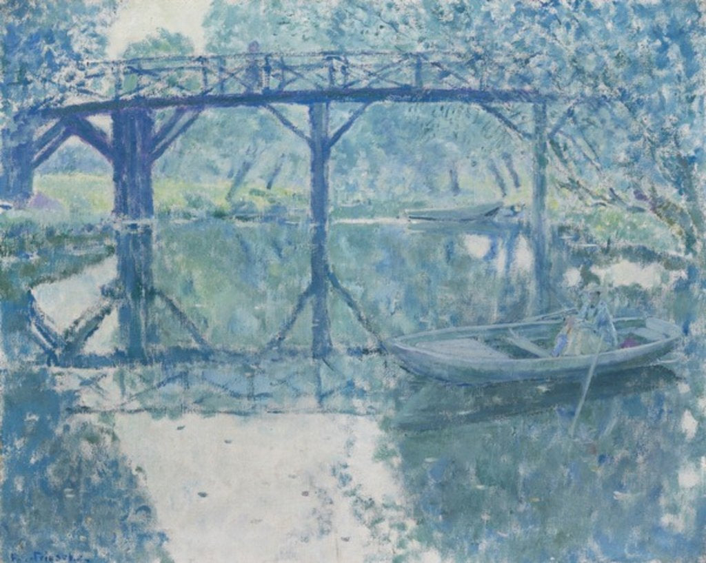 Detail of The Bridge - Giverny by Frederick Carl Frieseke