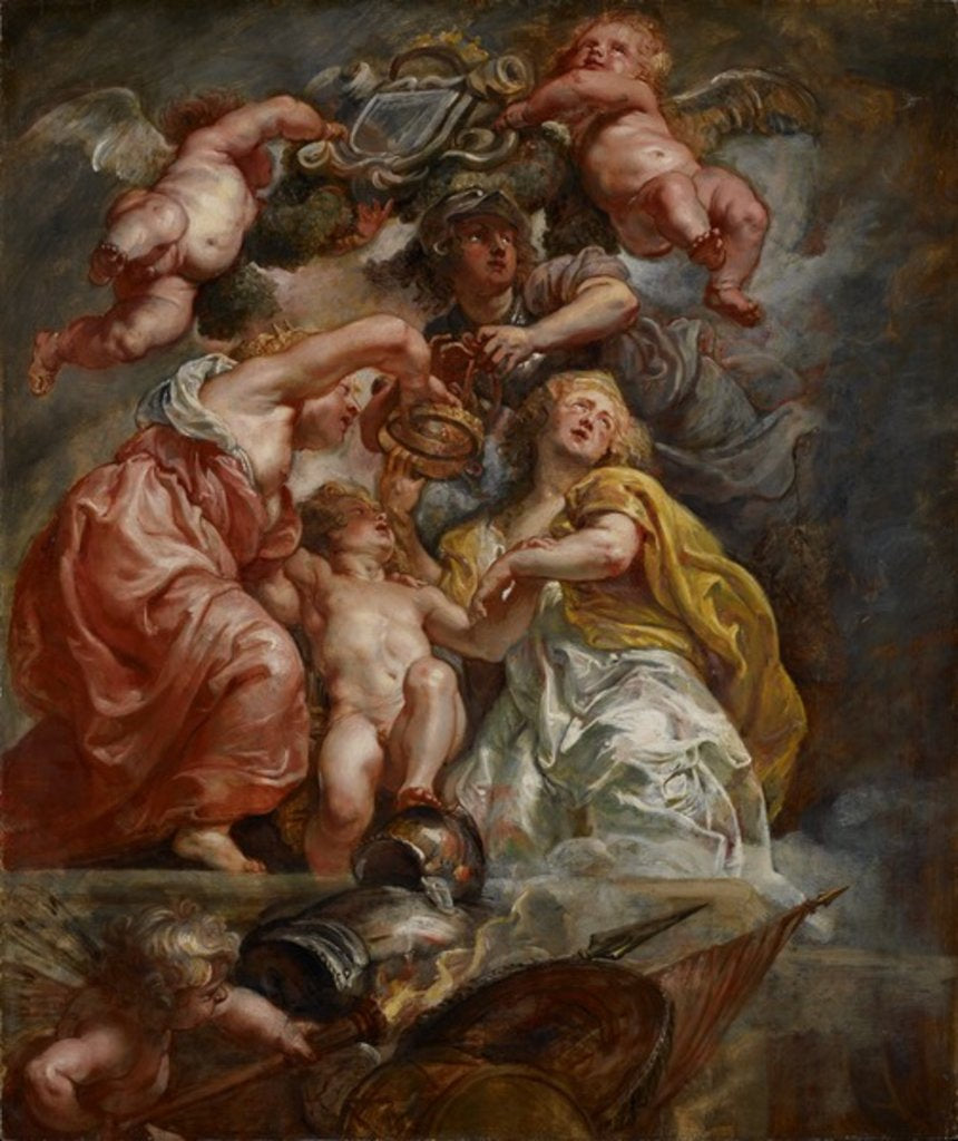 Detail of The Union of England and Scotland, c.1633-34 by Peter Paul Rubens