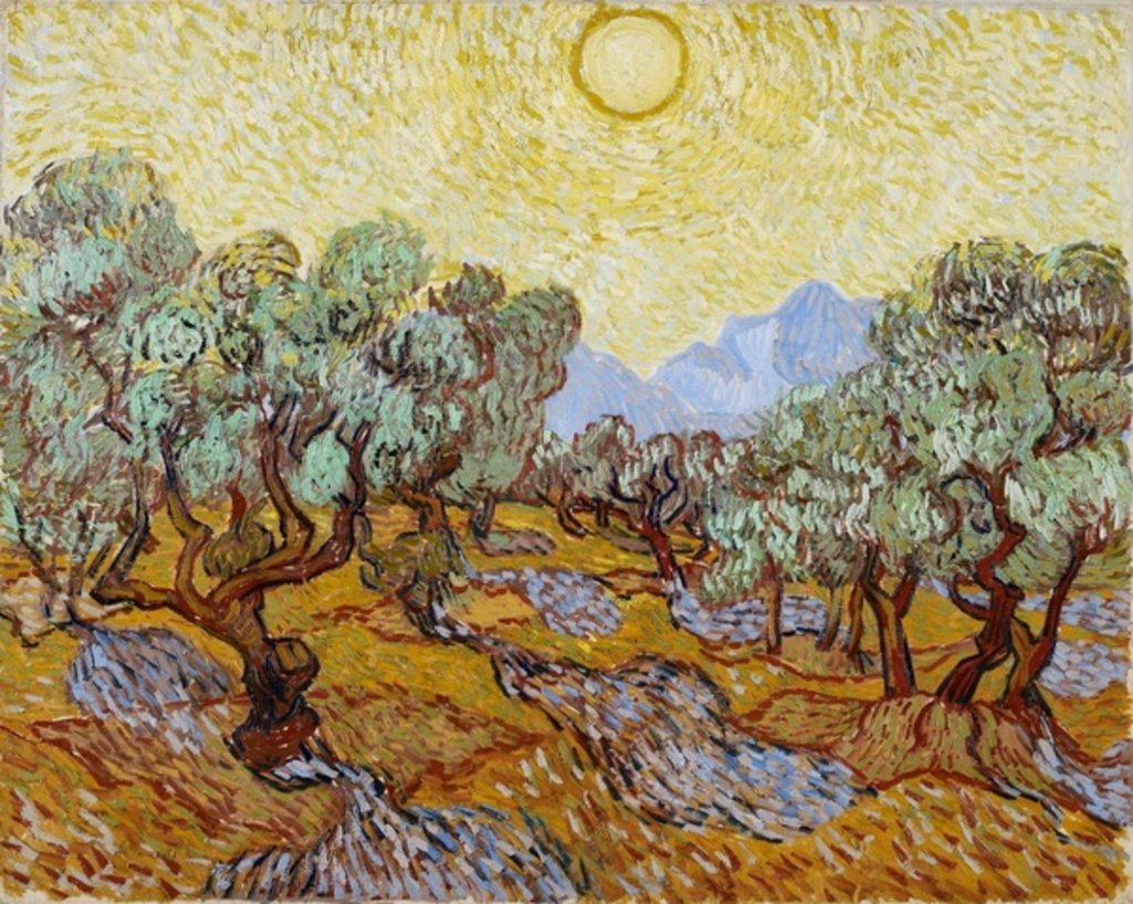 Detail of Olive Trees, 1889 by Vincent van Gogh