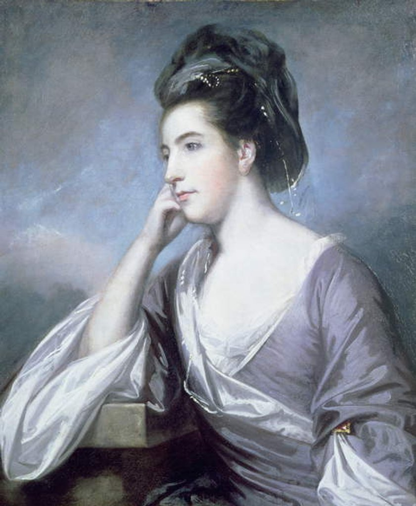 Detail of Portrait of the Hon. Mrs John Barrington, 1757-58 by Joshua Reynolds