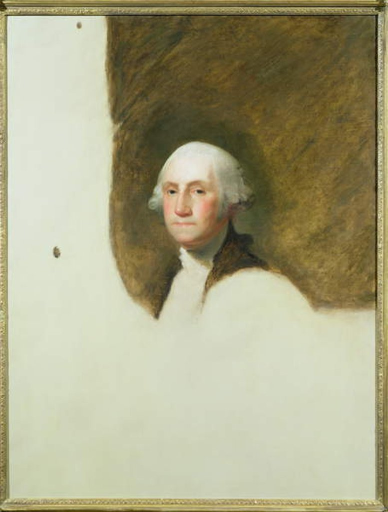 Detail of Portrait of George Washington by Jane Stuart