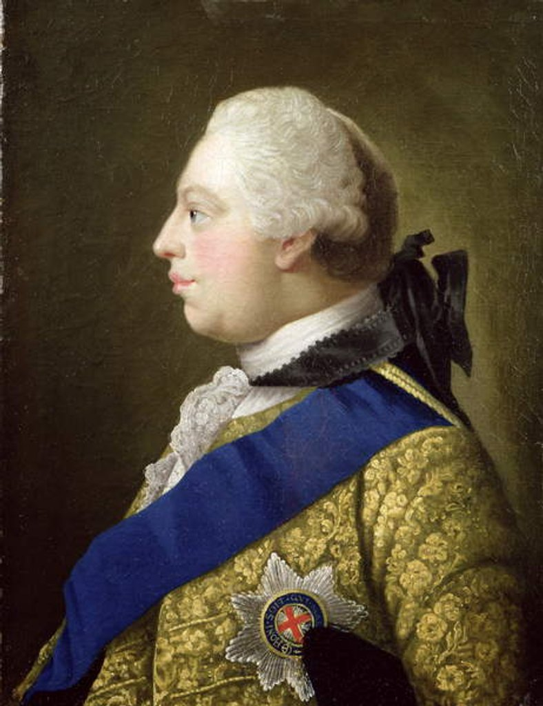 Detail of Portrait of George III by Johann Zoffany