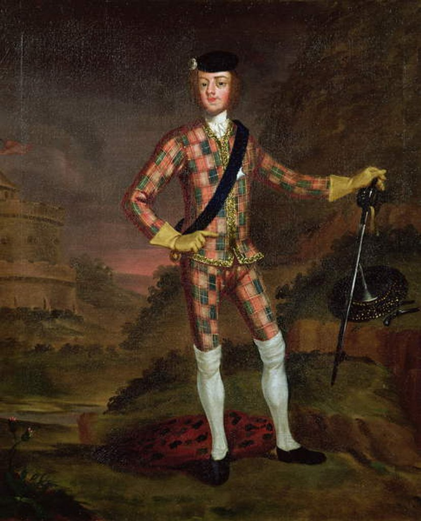 Detail of The Harlequin Portrait of Prince Charles Edward Stuart c.1745 by John Worsdale