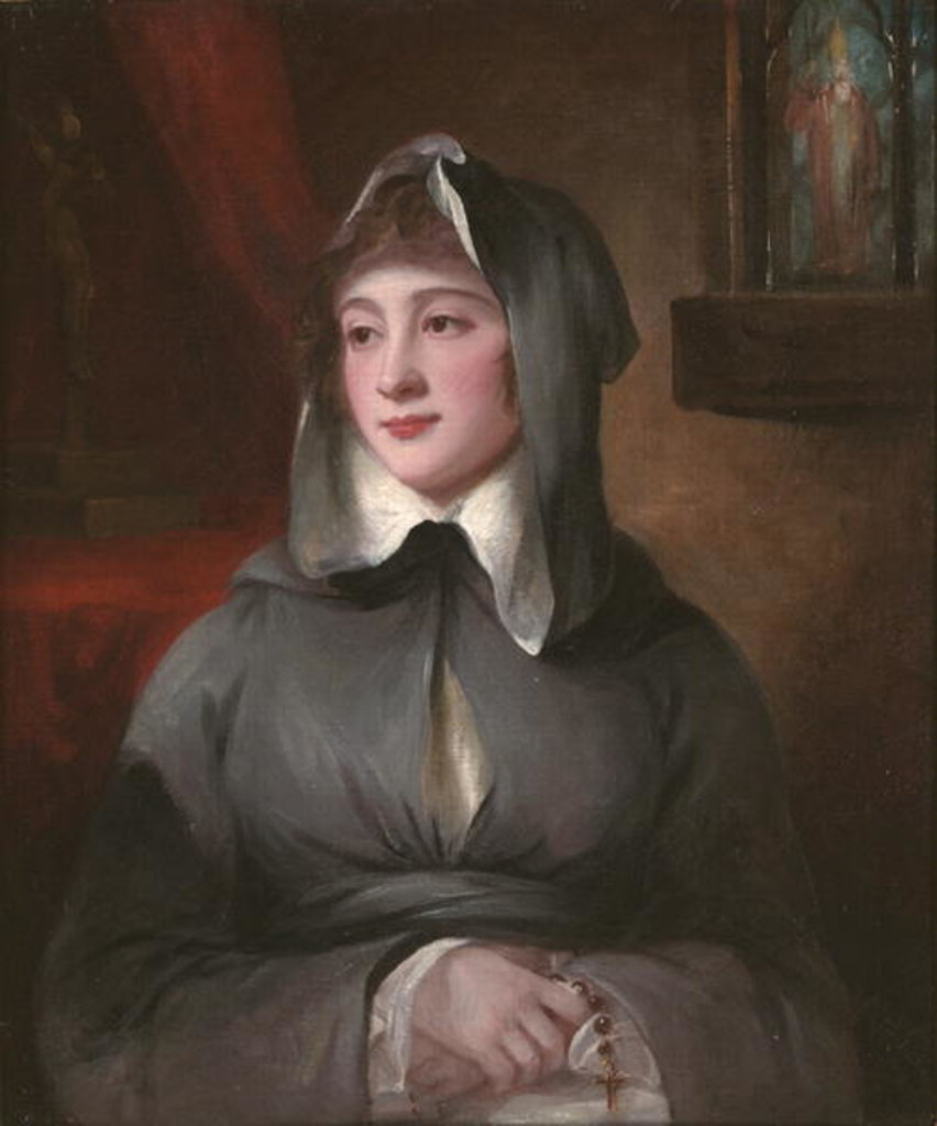 Detail of Portrait of Madame Larcena, in a nun's habit, 1786 by George Romney