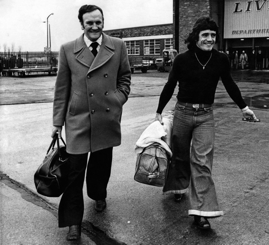 Detail of Don Revie at Liverpool Airport with Kevin Keegan by Anonymous
