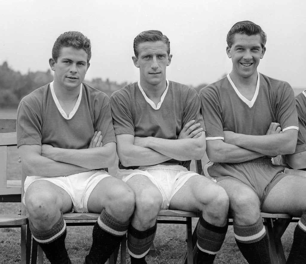 Detail of Manchester United players pose for a photograph by Park