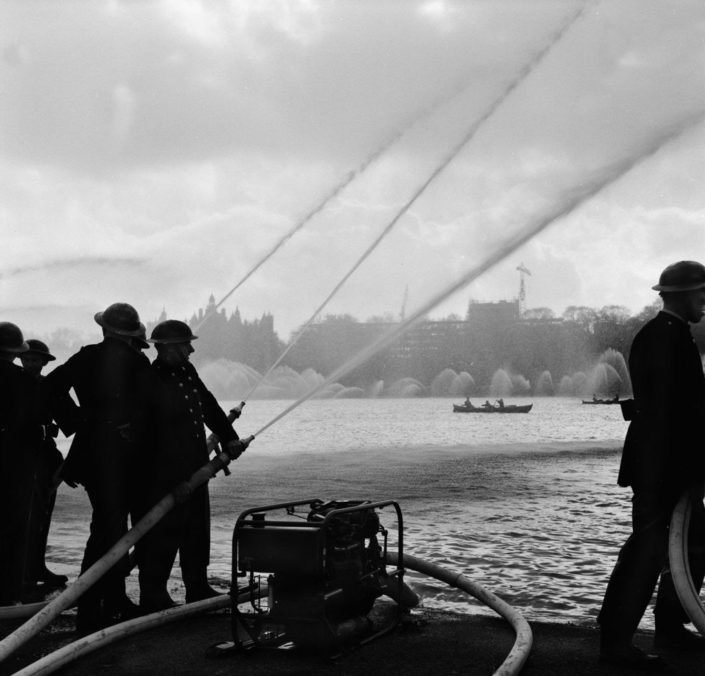 Auxiliary Fire Service exercise in Hyde Park by Ted Heanley
