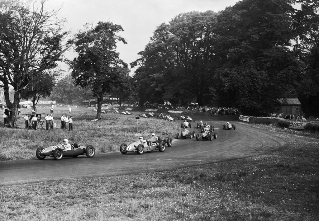 Detail of Daily Herald race meeting at Oulton Park by Hicklin / Barham
