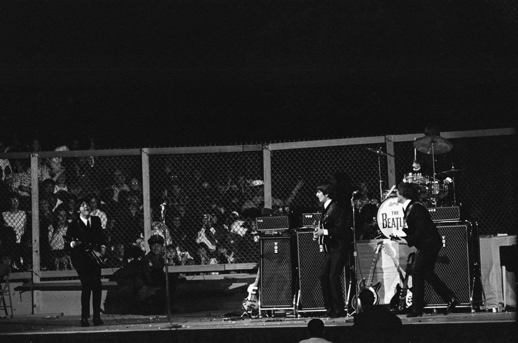 Detail Of The Beatles On Stage At Cow Palace In San Francisco By Anonymous