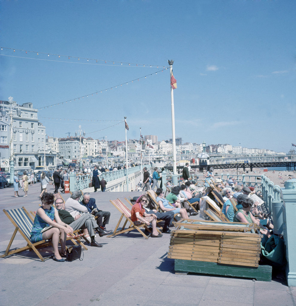 Detail of The sea front at Brighton by Library