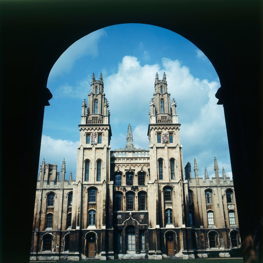 Detail of All Souls College in Oxford by Staff