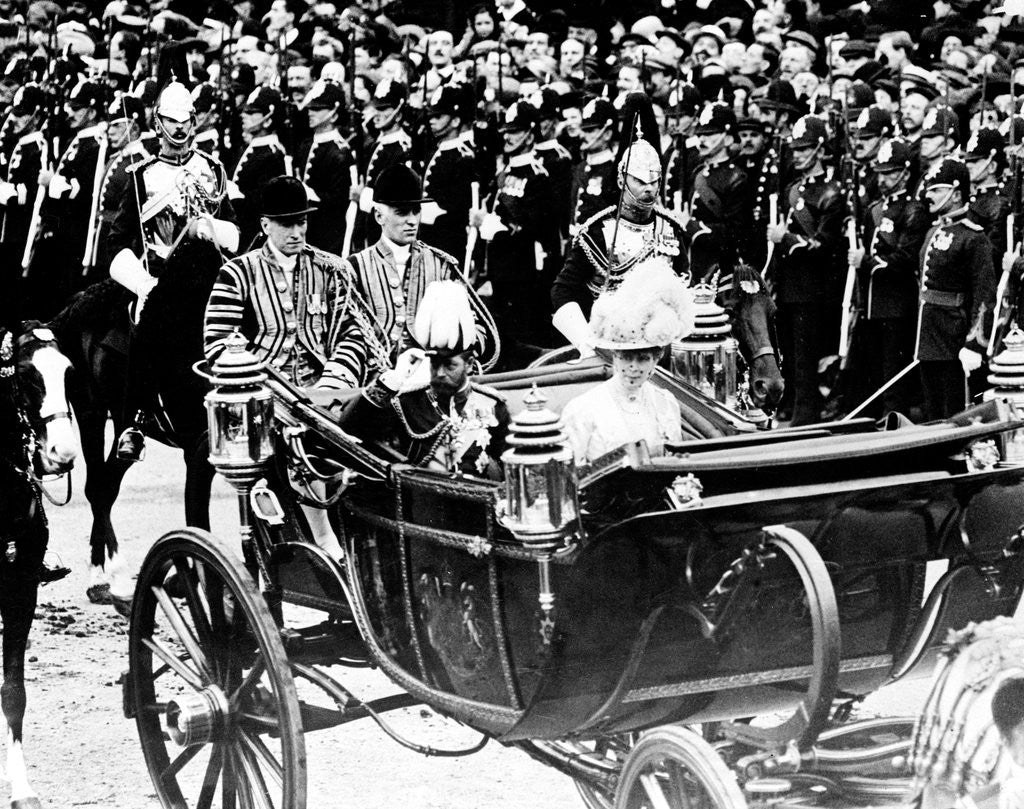 Detail of Procession through London for the Coronation of George V and Queen Mary by Staff