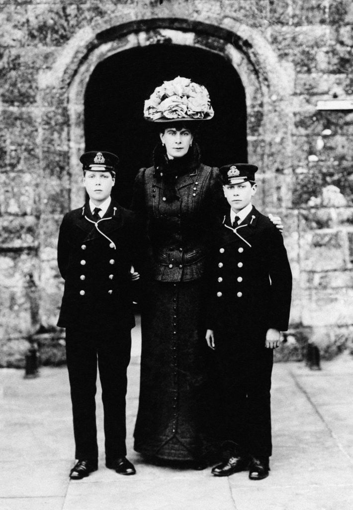 Detail of Queen Mary with Prince Edward and Prince Albert by Staff