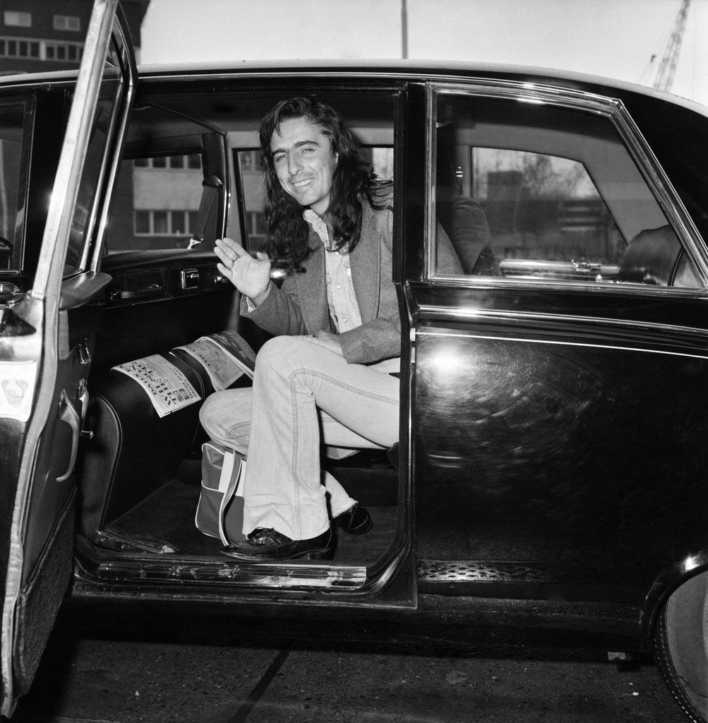 Detail of Alice Cooper arrives in London 1974 by Staff