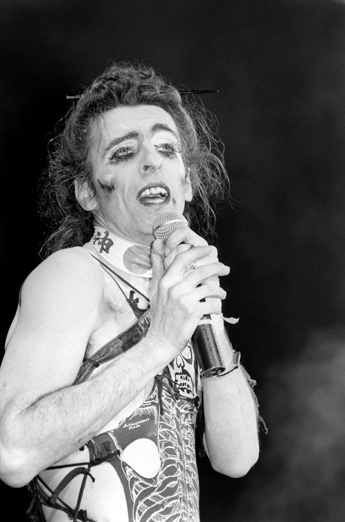 Detail of Alice Cooper in concert at the Hammersmith Odeon 1982 by Anonymous