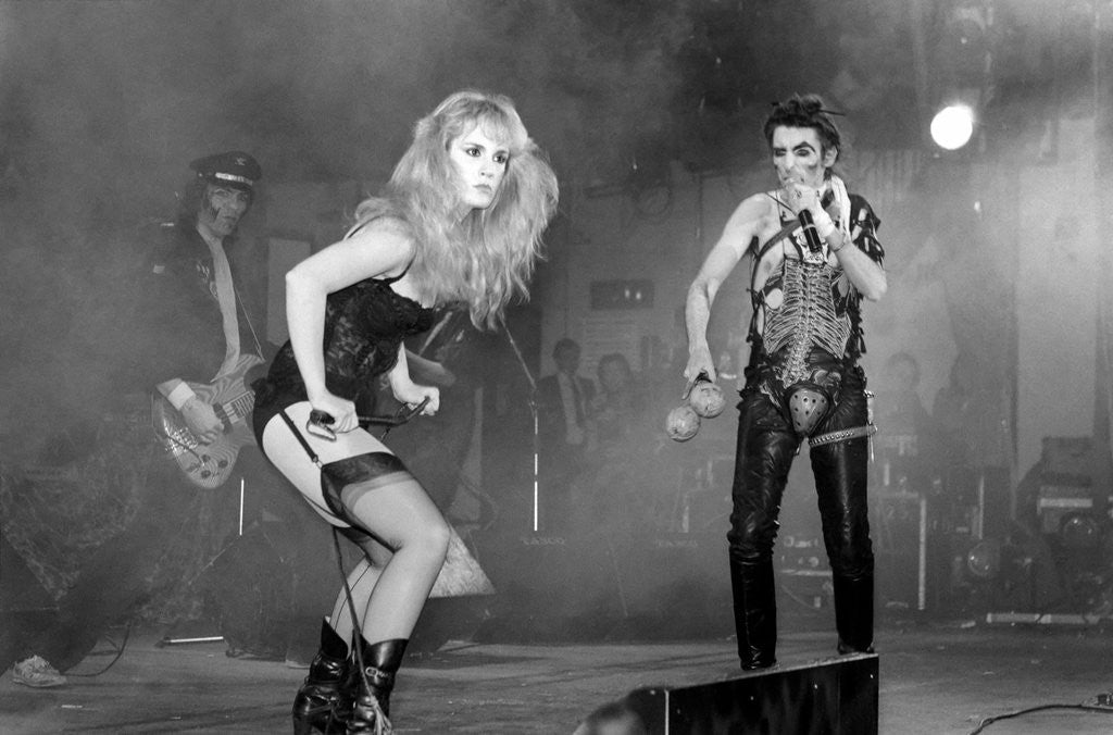 Alice Cooper in concert at the Hammersmith Odeon 1982 by Anonymous