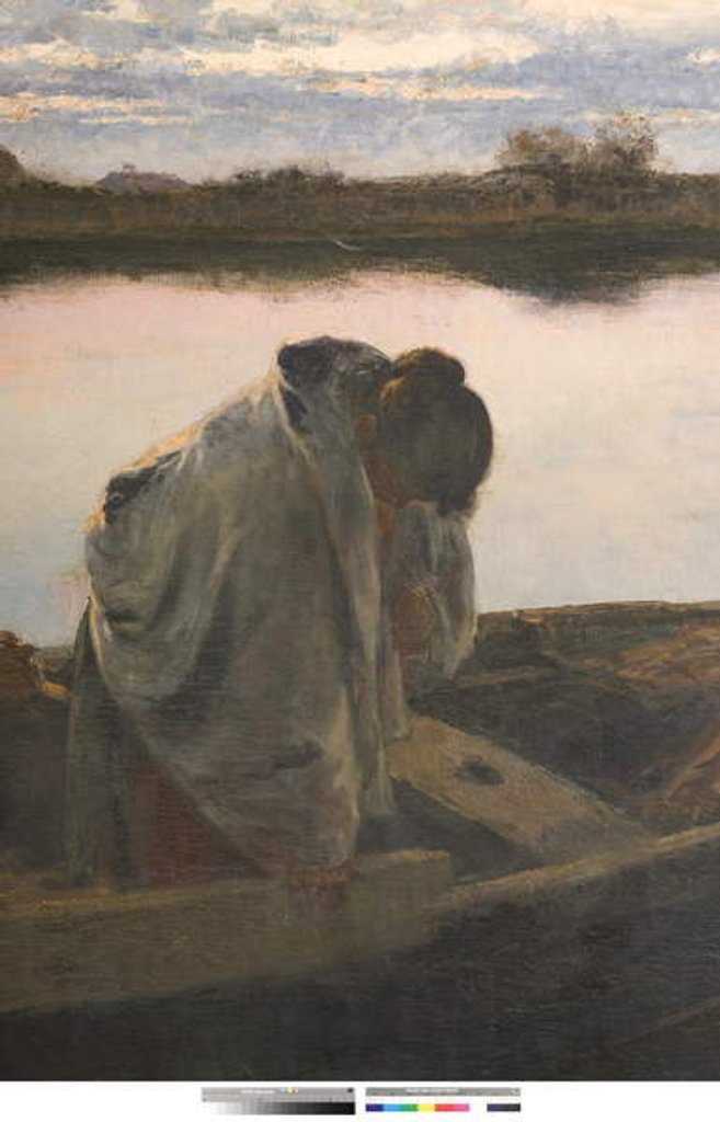 Detail of Prayer or For the Unfortunate Shipwrecked, 1897 by Leonardo Bazzaro