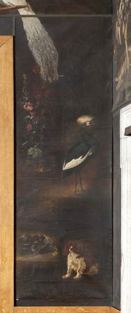 Detail of Dog and grey crowned crane, Myth of Orpheus by Italian School