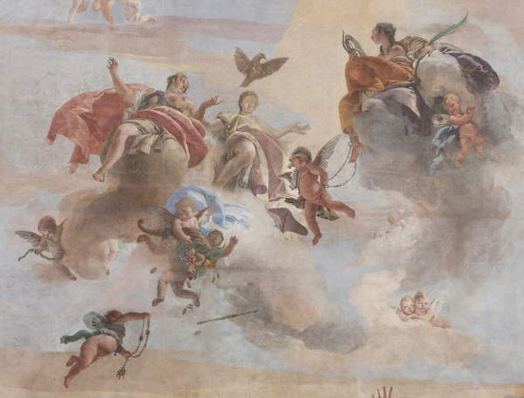 Detail of The Fall of the Demons, Stories of Scipio by Giovanni Battista Tiepolo