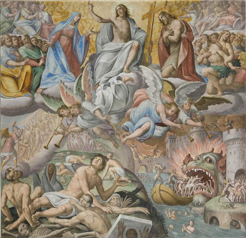 Detail of Last Judgement, detail, 1614 by Giovanni Mauro della Rovere
