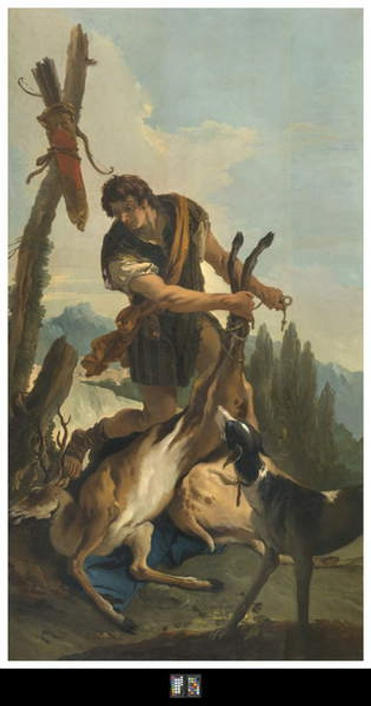 Detail of Hunter with Deer, 1718 by Giovanni Battista Tiepolo
