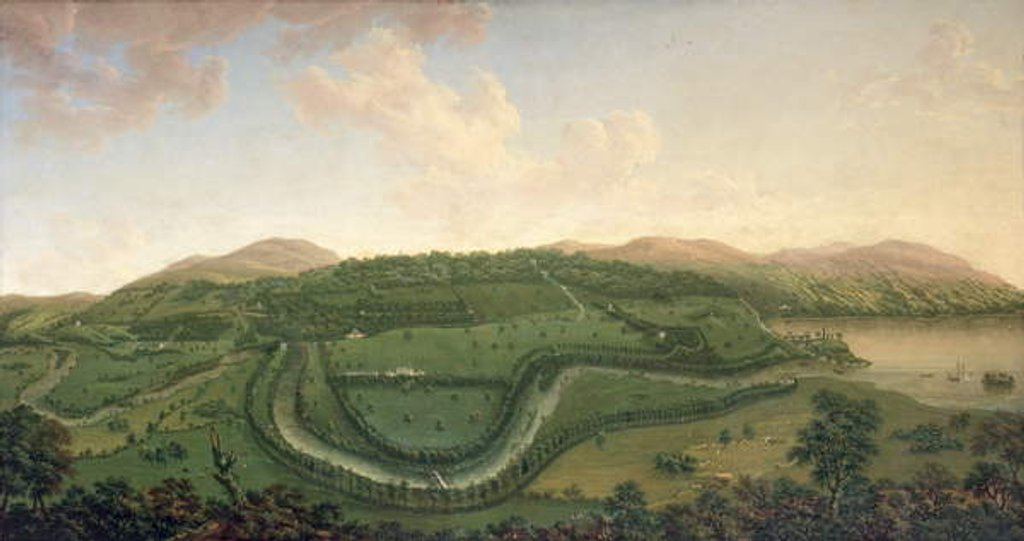Detail of Taymouth from the North, 1755 by John Sanger