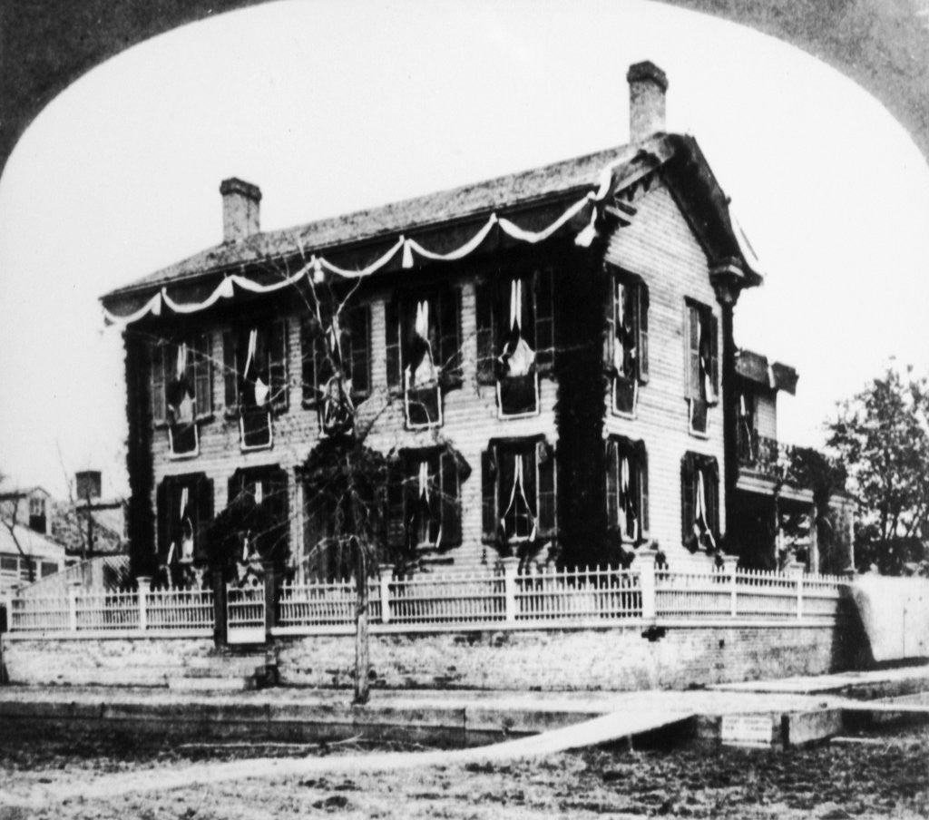 Detail of Abraham Lincoln's House by Corbis
