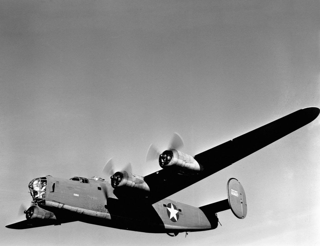 Detail of B-24 Liberator in Flight by Corbis