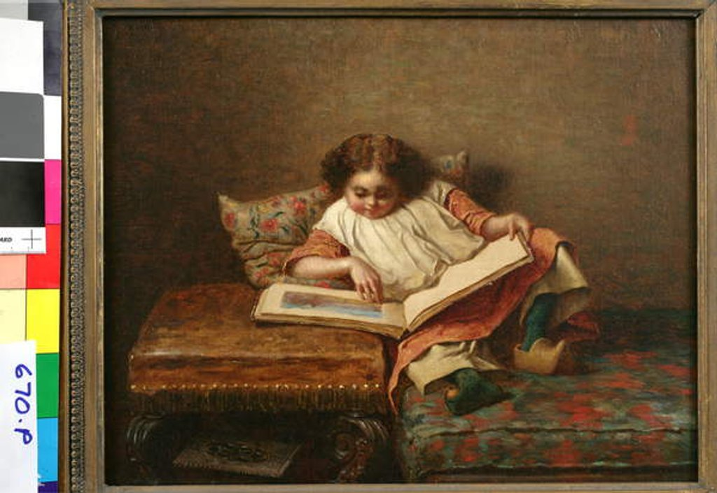 Detail of The Art Lover by Eastman Johnson