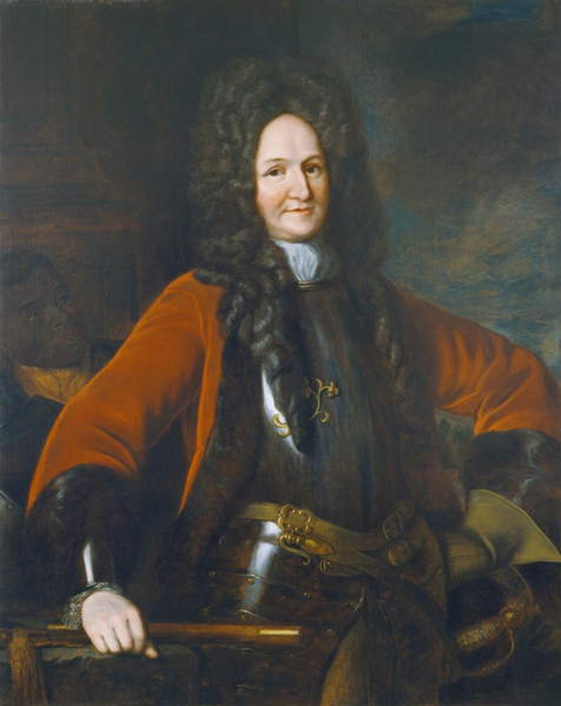 Detail of General Hugh Mackay 1690 8G:killed at the Battle of Steenkirk in 1692 during the Nine Years' War; by Godfrey Kneller