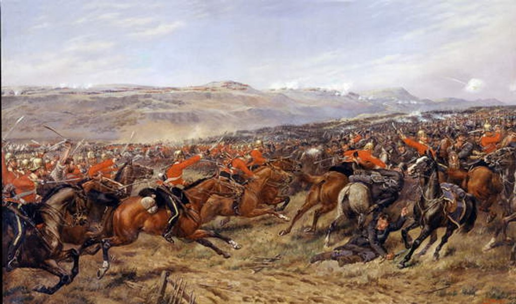 Detail of The Charge of the Heavy Brigade at the Battle of Balaclava, 25 October 1854, 1897 by Godfrey Douglas Giles