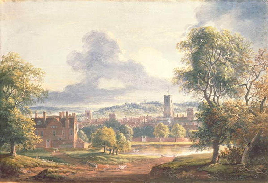 Detail of A View of Ipswich by Paul Sandby