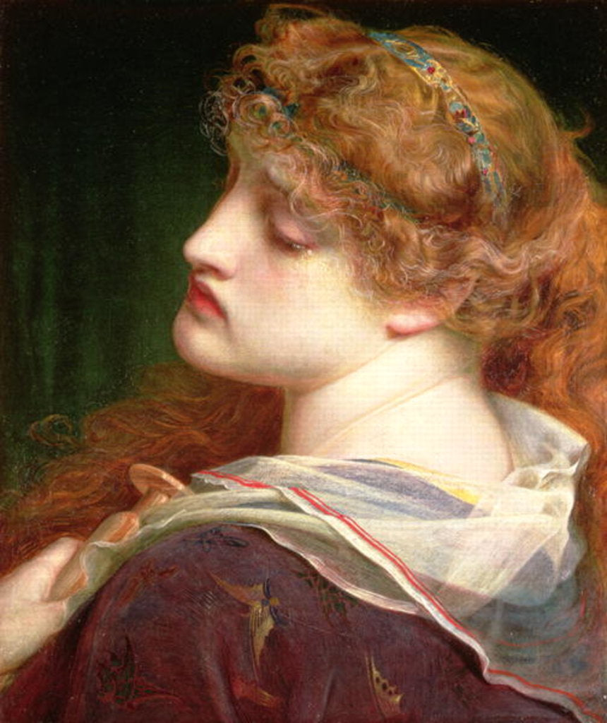 Detail of Mary Magdalene, 1862 by Anthony Frederick Augustus Sandys