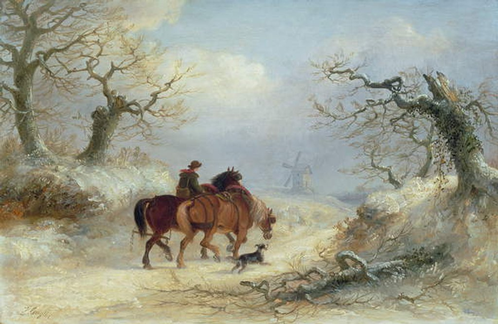 Detail of Crossing the Common - Scene near Ipswich by Thomas Smythe