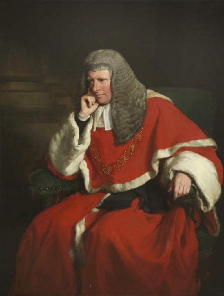 Detail of Sir William Erle, Lord Chief Justice by Francis Grant
