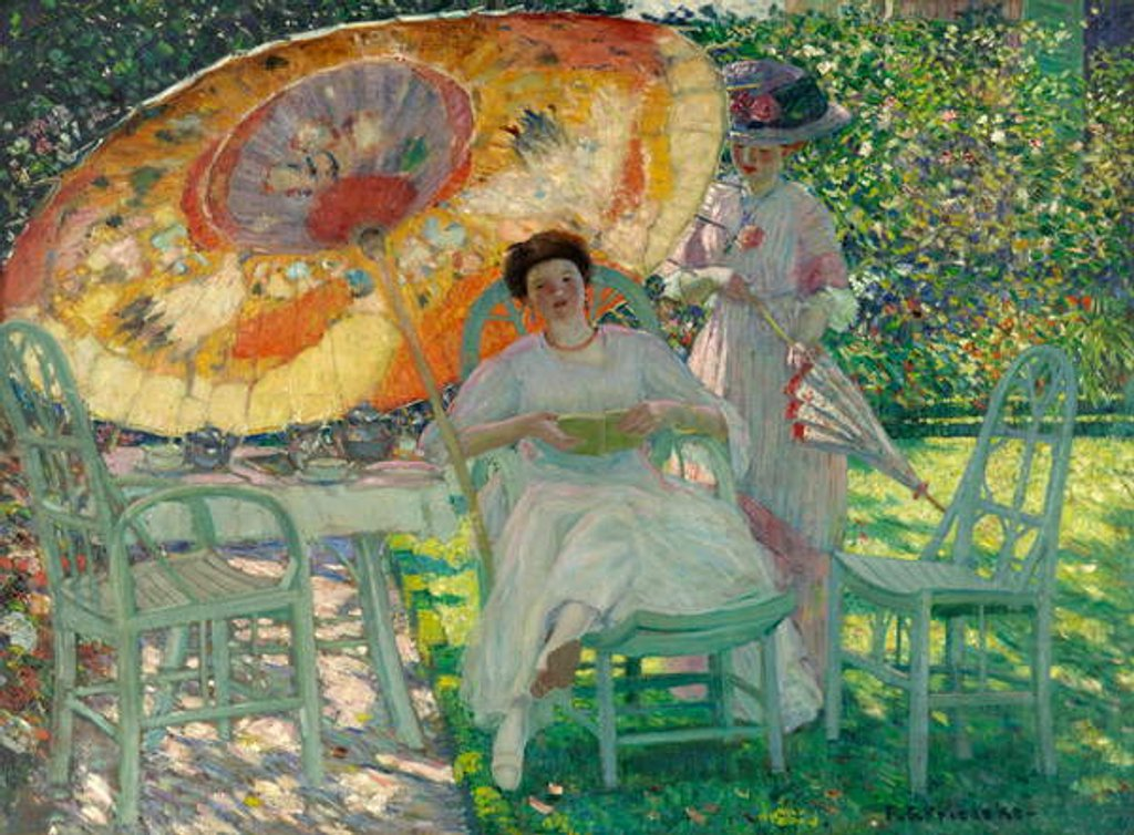 Detail of The Garden Parasol, c.1910 by Frederick Carl Frieseke