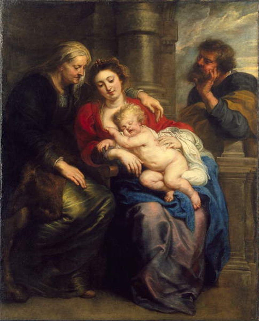 Detail of The Holy Family with St. Anne, c.1630-1635 by Peter Paul Rubens