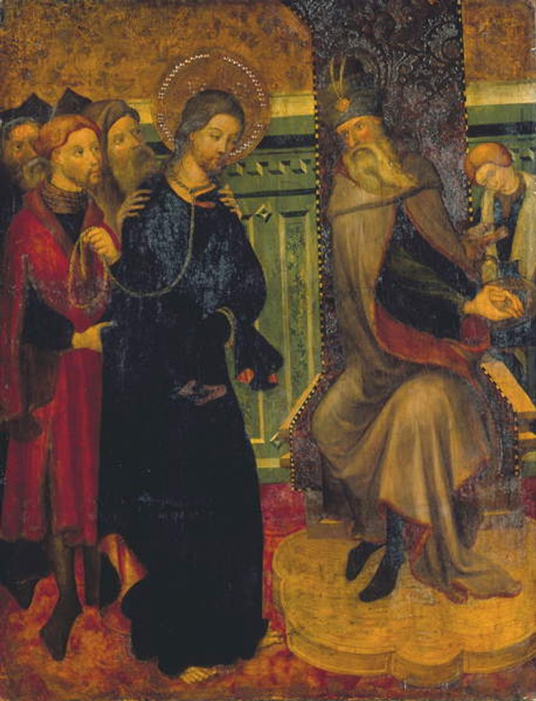 Detail of Christ before Pilate, c.1420-1425 by Lluis Borrassa