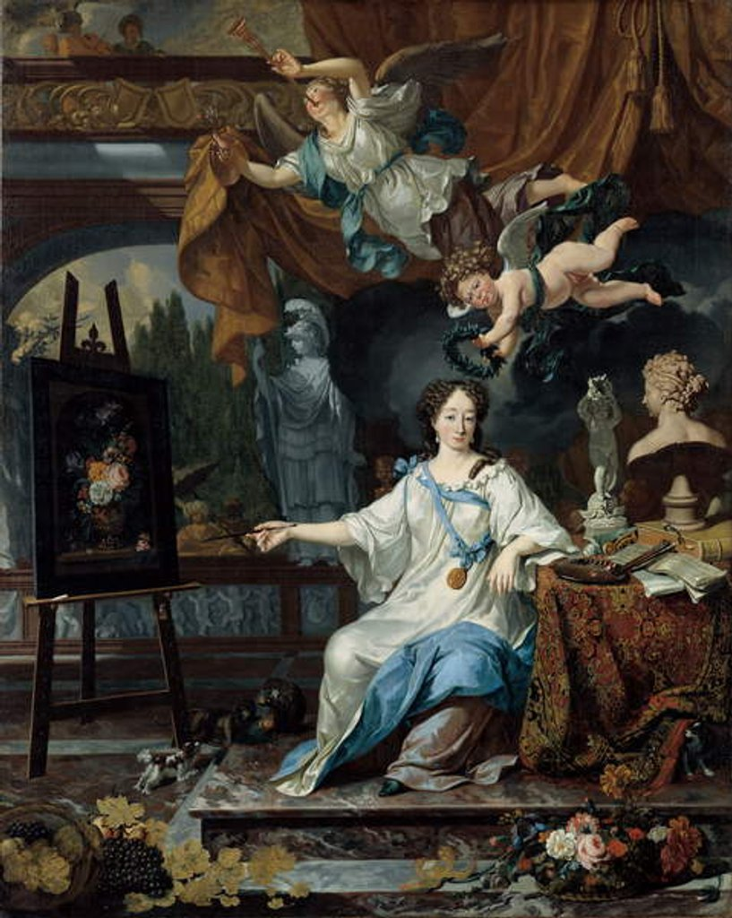Allegorical Portrait of an Artist in Her Studio, c.1675-1685 by Michiel van Musscher