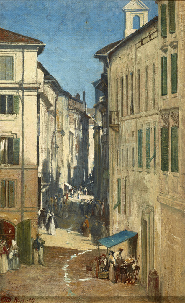 Detail of A Street in Rome by Sir William Fettes Douglas