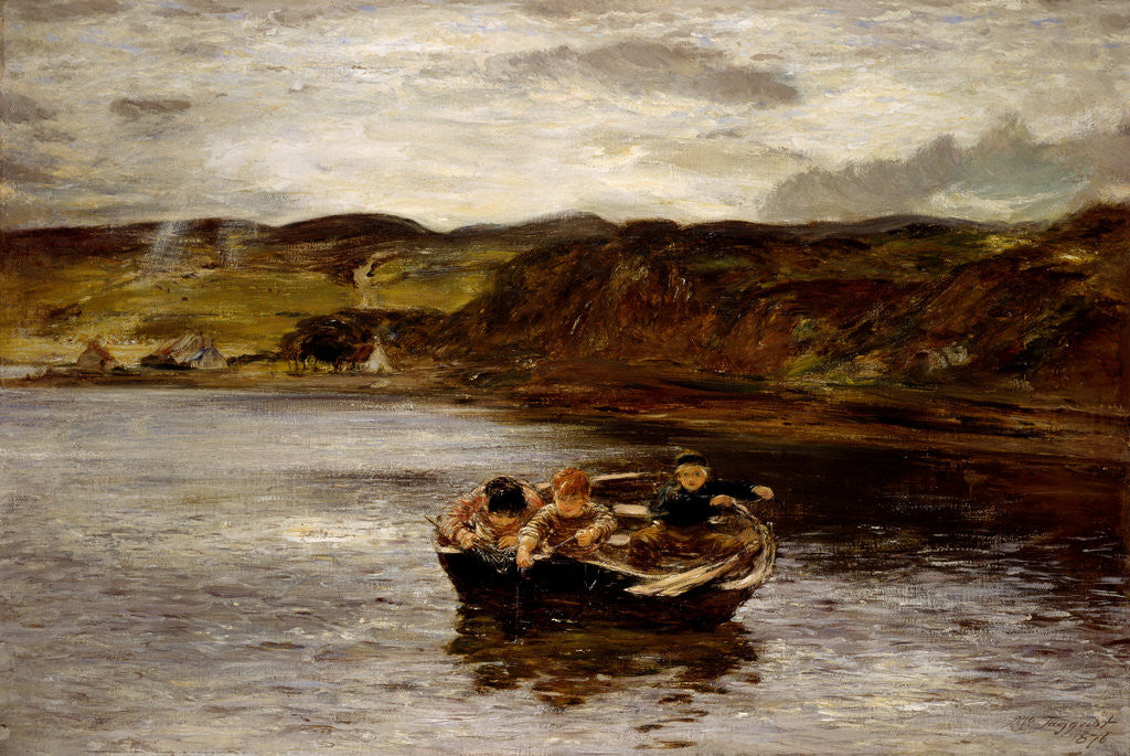 Detail of The Young Fishers by William McTaggart