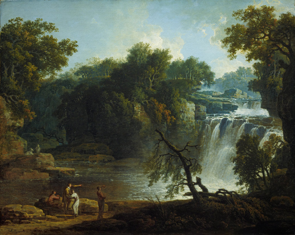 Detail of The Falls of Clyde (Corra Linn) by Jacob More