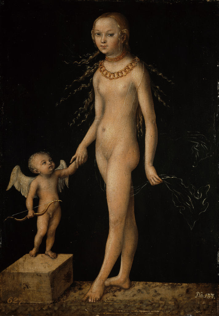 Detail of Venus and Cupid by Lucas Cranach the Elder